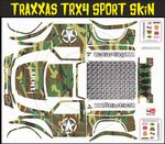 Green Army Camo Themed Vinyl SKIN Kit & Stickers Fits R/C Traxxas TRX4 Sport Rock Crawler